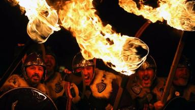 Viking: Islanders celebrate Up Helly Aa