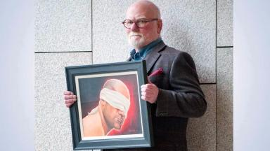 Robert McNeil: Paintings will go on display in the Scottish Parliament.