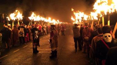 Festival: Thousands attend Up Helly Aa in Lerwick.