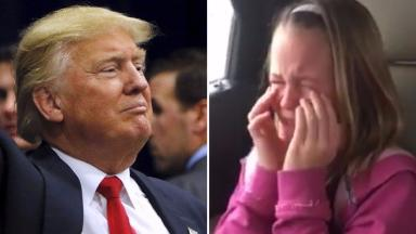 Ava was so excited at the news she would be seeing Donald Trump she burst into tears