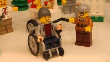 The beanie-hatted wheelchair user.