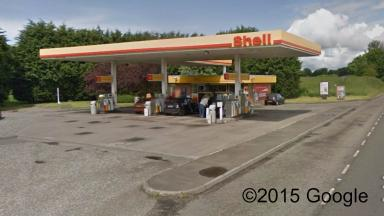 Break-in: Thieves stole cash from the petrol station.
