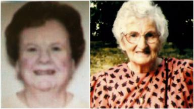 Elderly women: Kathleen Edward and Rosemary Laing found dead.
