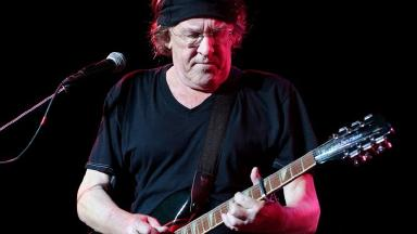 Paul Kantner pictured on stage in 2009.