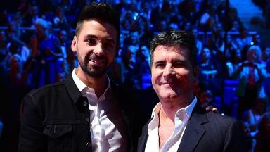 Ben Haenow (left) with his former mentor Simon Cowell.