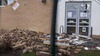 Damage: Problems at Oxgangs Primary prompted a wider survey.