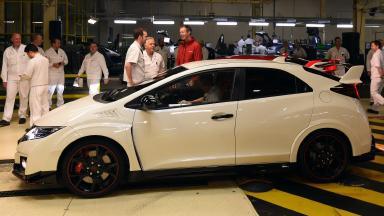 Crash: Eoin Duncan was driving a Honda Civic Type R (file pic).