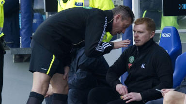 Neil Lennon will be in the stand for Celtic's next two matches.