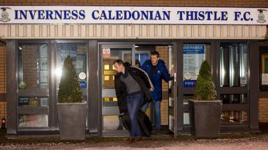 Inspection: Willie Collum leaves the venue.