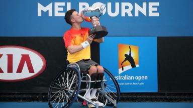 Triumph: Gordon Reid came out on top in Melbourne.