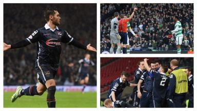 Ross County beat Celtic to reach the 2016 League Cup final.
