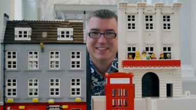 Building blocks: Warren Elsmore's latest Lego creations will be among the attractions (file pic).