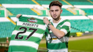 Celtic unveil their new loan signing Patrick Roberts