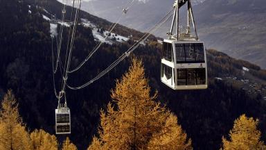 The woman died in the ski resort of La Plagne.