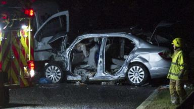 Fatal crash: A fourth victim has died in hospital.