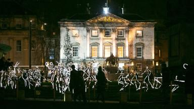 Display: The lit-up stick figures will be in St Andrew Square until the end of March.