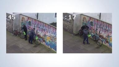 Appeal: The men were seen cycling away from the scene of the robbery.