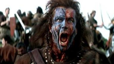 William Wallace: Mel Gibson plays the Scots freedom fighter in Braveheart.