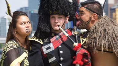 Gearing up: International performers are preparing for the military tattoo in Australia.
