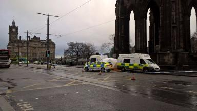 Incident: Police sealed off area around the Scott Monument.