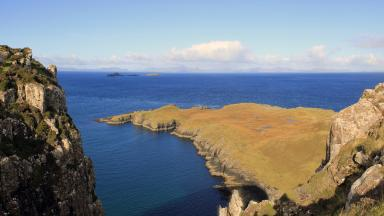 View from Rubha Hunish bothy in Skye