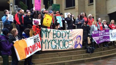 Pro-choice: Demonstration in Glasgow.
