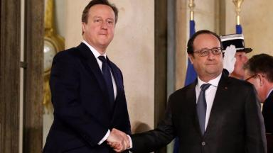 David Cameron met with Francois Hollande on Monday night.