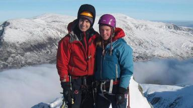 Buried together: Tim Newton and Rachel Slater laid to rest in Glen Nevis.