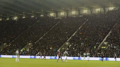 The stands were packed but supporters at home wanted to see the games as well.