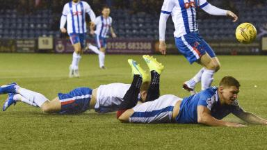 Martyn Waghorn was hurt during the Scottish Cup win over Kilmarnock.