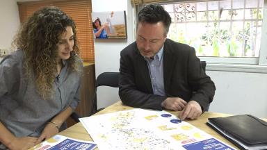 Settlements: Alyn Smith MEP with Peace Now's Anat Ben Nun.