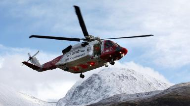 Airlifted: Mountaineer flown to hospital from Cairngorms.