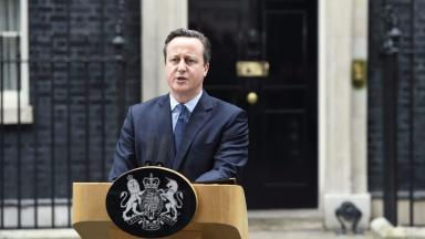 PM: David Cameron spoke outside Downing Street.