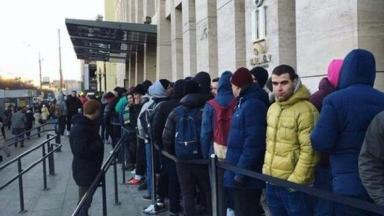 Only three shops in Moscow stocked the shoes, which prompted hundreds to queue.