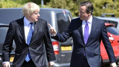 David Cameron pictured with Boris Johnson in April.