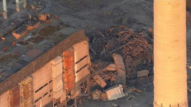 The aftermath of the explosion at Didcot Power Station this afternoon