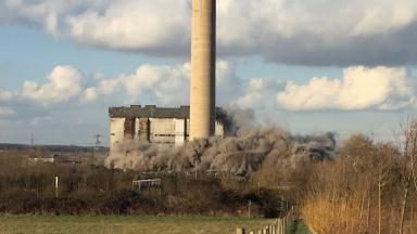 Smoke rising from Didcot Power Station.