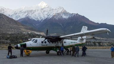 A Tara Air Twin Otter aircraft similar to the one pictured has gone missing in Nepal