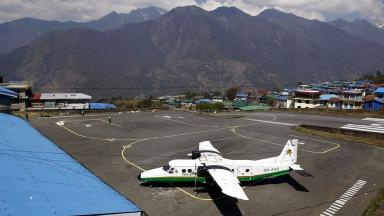 A Twin Otter aircraft belonging to Tara Air, similar to the one pictured, crashed as it flew over Nepal