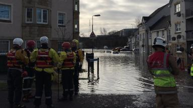 Flooding: Emergency services were called in to help residents.