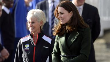 Meeting: The countess met Judy Murray for a tennis workshop.