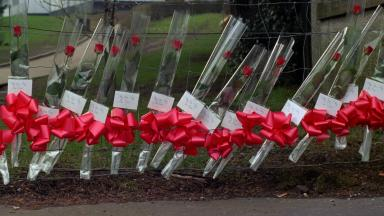 Dunblane: Red roses left outside school that was scene of tragedy (file pic).