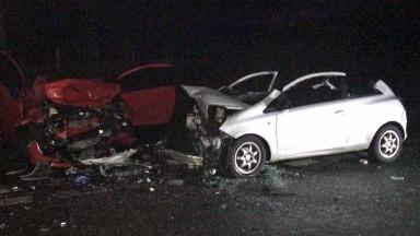 A96: Four injured in road crash.