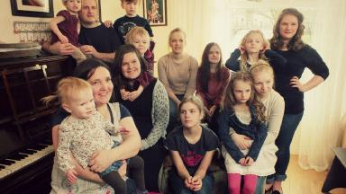Happy family: Roy and Emma Hann have 13 children (including Megan, not pictured).