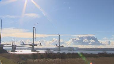 Bridge: The Queensferry Crossing is taking shape.