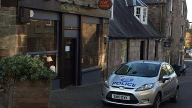 Raid: Balerno Post Office was targeted.
