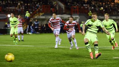 Strike: Celtic's Leigh Griffiths opens the scoring from the penalty spot.