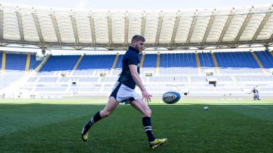 Finn Russell at the Stadio Olympico