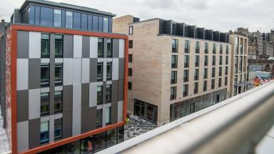 New hotels: The site at East Market Street in Edinburgh.