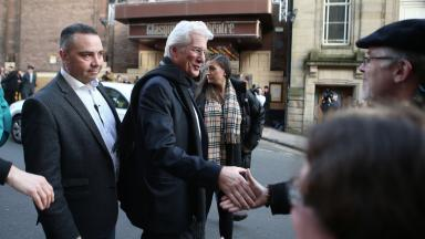 Richard Gere: Actor meets members of the public at the UK premiere of Time Out of Mind.